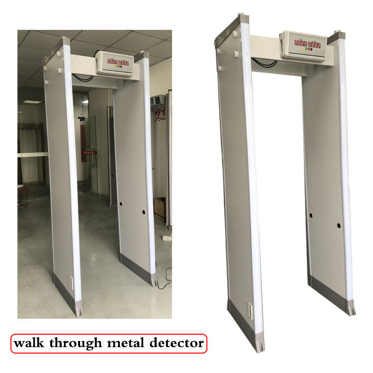 18 33 Zones Body Metal Detectors Outside Waterproof Walk Through Metal Inspection Gate