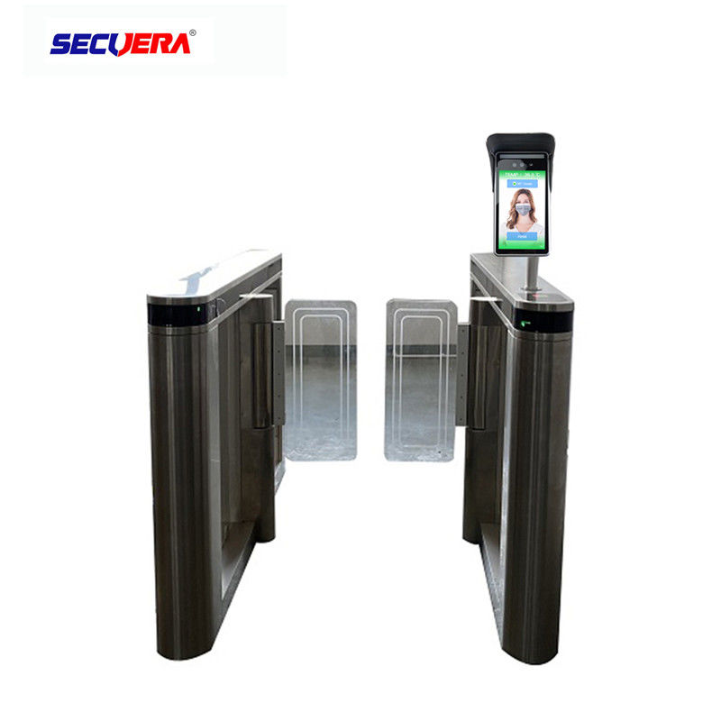 "Automatic Measurement Walk Through Temperature Scanner 8"" Face Recognition Alarm System"